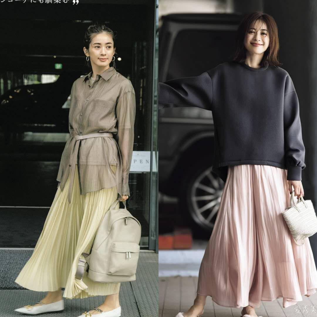 """適合職場女性的夏天服飾搭配:""""中長衫+半身裙""""配搭法,清雅可是時"""