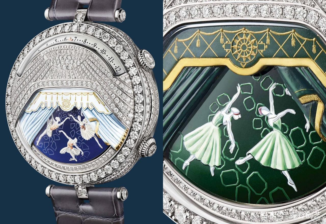 第一枚結合歌曲與動漫的腕表,芭蕾舞伶在手表表殼表帶上舞出經典舞劇
