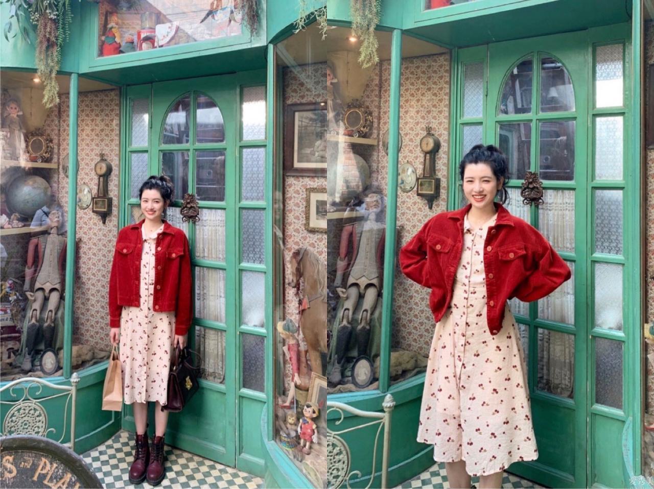 甜酷的初秋穿著打扮,林小宅的燈籠褲有點討喜,做一個粉嫩少女