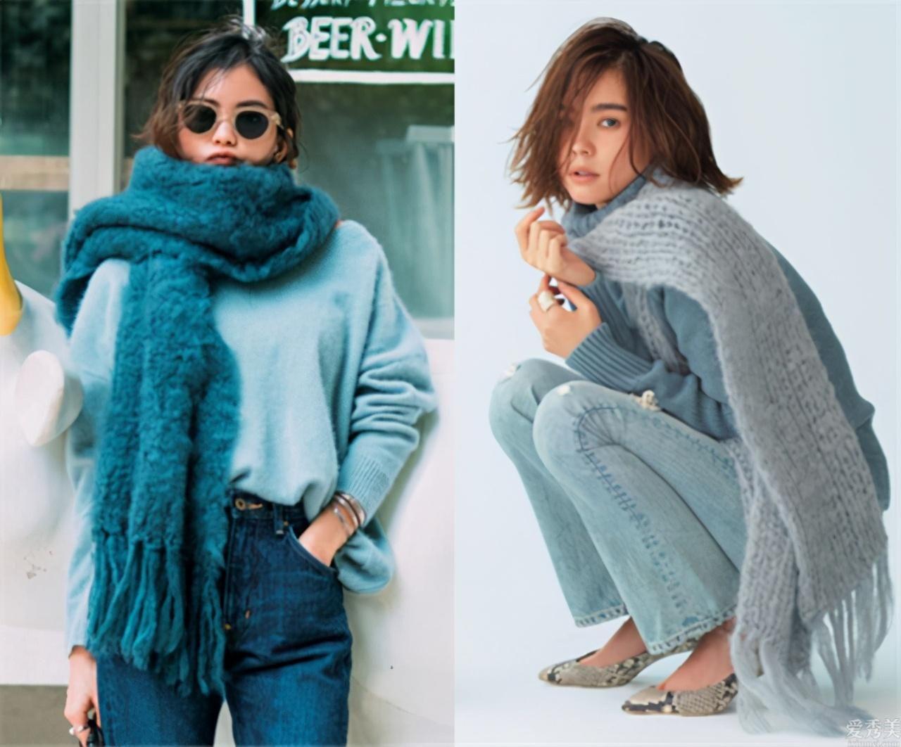 你離時尚時尚潮流還差一條圍巾,小百貨教你9種戴法!