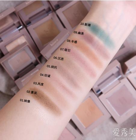 張語格推薦,暈染柔和色彩多樣滋潤百搭妝容用hince單色眼影
