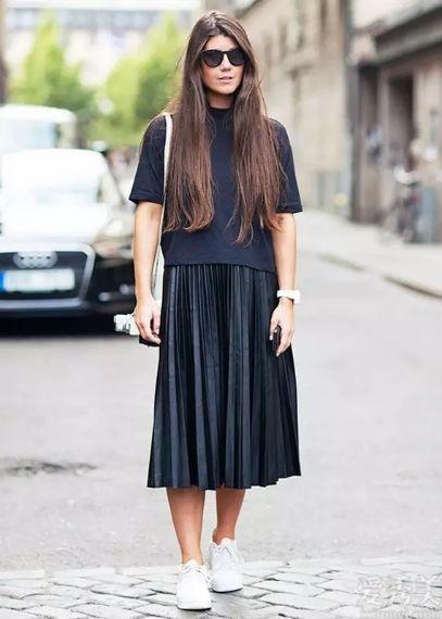 女士初秋別一直衛衣搭牛仔褲子子,建議試一下下述4條長裙,顯瘦又顯高