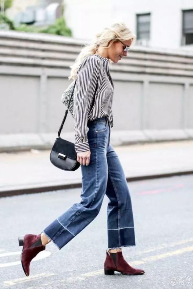 牛仔褲子無須買瞭多,今秋流行這5款,遮肉好搭,穿多久都可是時