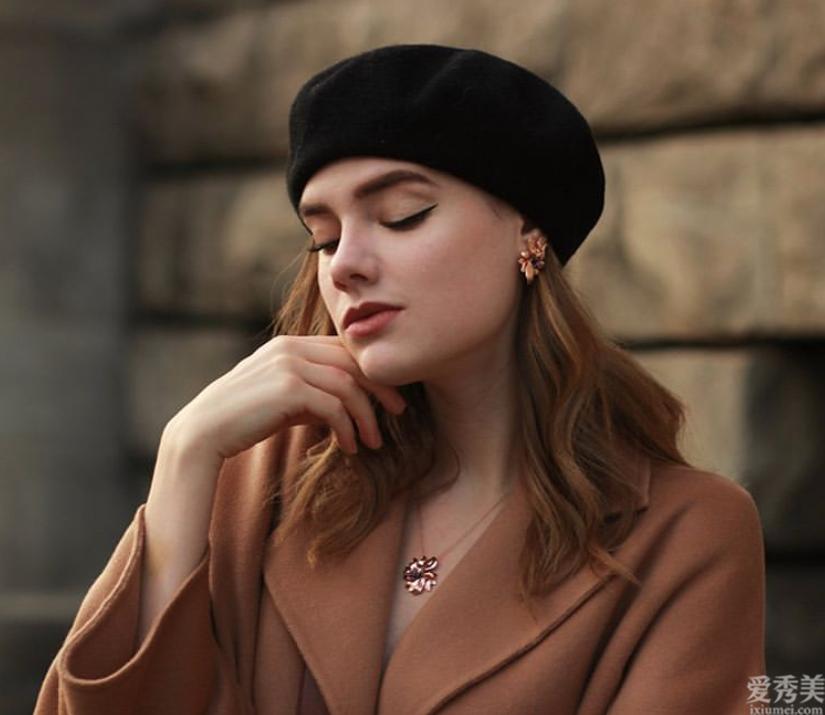冬季造型設計別忘記太陽帽的幸福,一頂貝雷帽5種設計風格,發現你的心動款