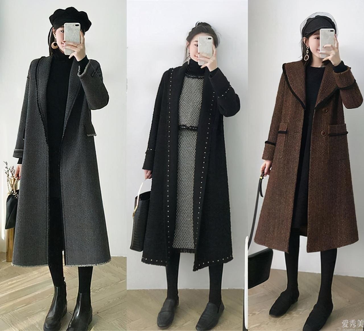 冬天科技感穿搭示范,一件大衣拿到輕熟風,知性又清雅