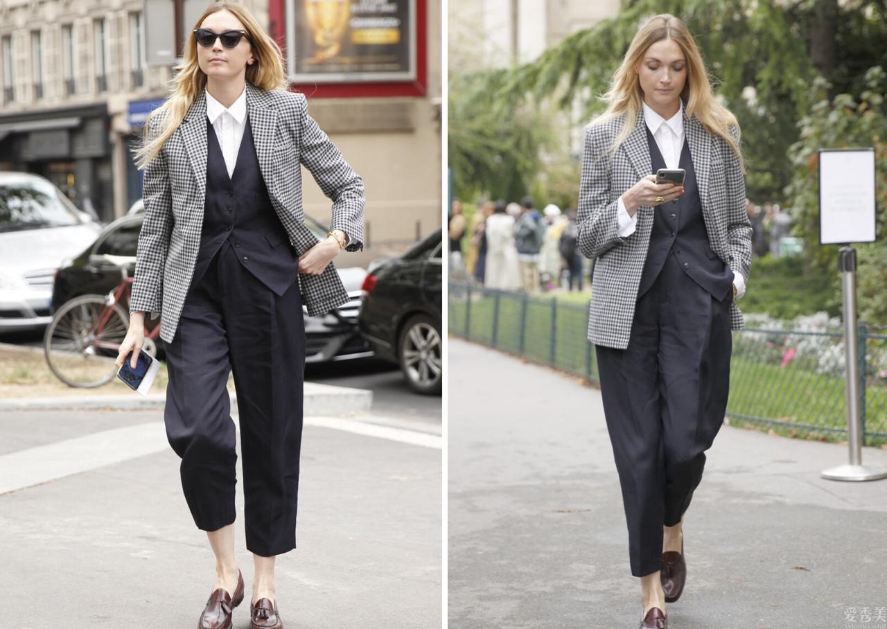 女性還能夠帥酷又瀟灑,英倫三件套復古時尚休閑,秋季那麼穿太時尚潮流