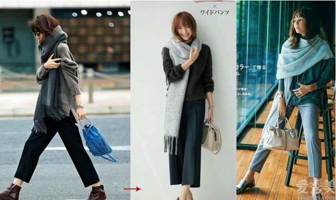 """一個方式+3個思路讓你弄清楚,冬天的""""圍巾""""怎樣搭更最顯白顯高級"""