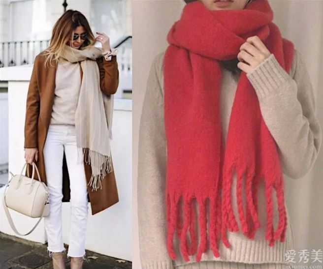 冬季的第一條圍巾如何搭?臉形上下系法,色彩戰略決策搭配