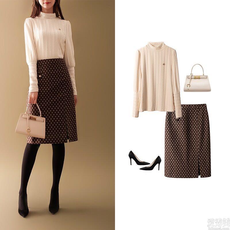 """""""毛衣+半身裙""""爆紅,選大地色好高級!平常和初入職場統統可穿"""