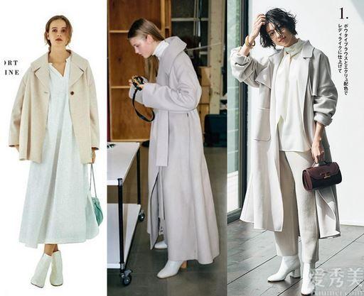 """一雙白色短靴,""""柔和""""霜降,4個構思教你怎麼搭更顯氣質"""