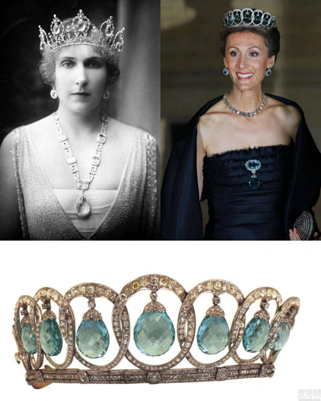 歐洲王室鐘愛海藍寶頸鏈和冠冕,僅因美若天仙海藍寶石更強看