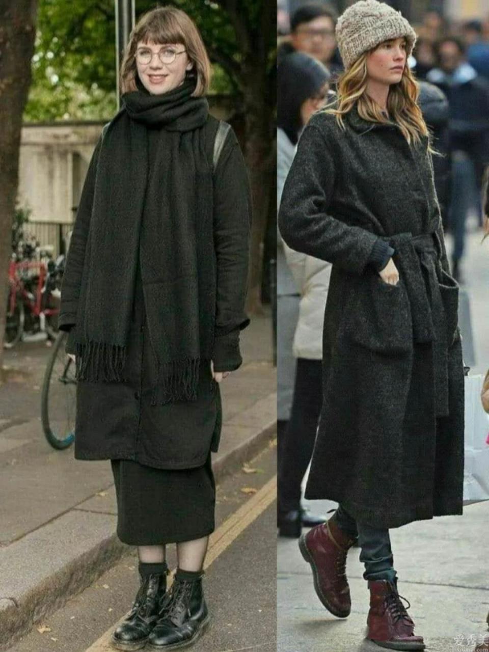 女人要想提升 街頭氣場,毫無疑問在所難免馬丁靴,颯爽英姿復古時尚又高級
