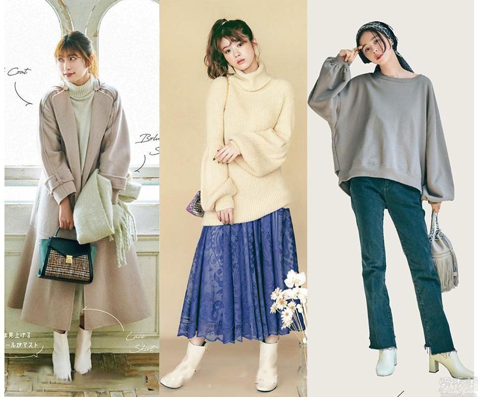 """一雙白女靴,""""柔和""""霜降,4個設計構思教你怎麼搭更顯氣質"""