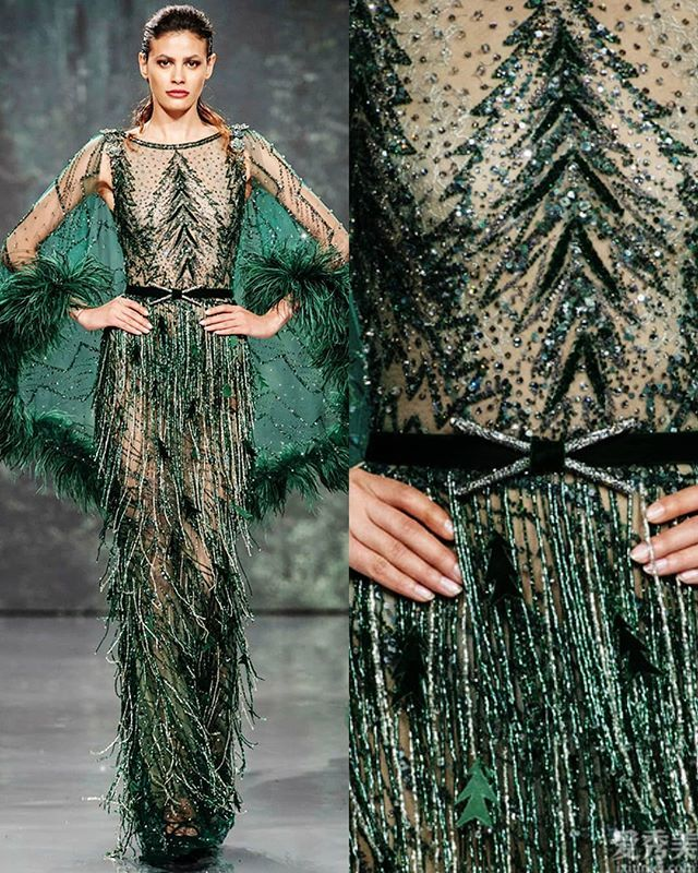 ZiadNakad高定禮服,綠野仙蹤,閃耀彩帶釘珠重工打造