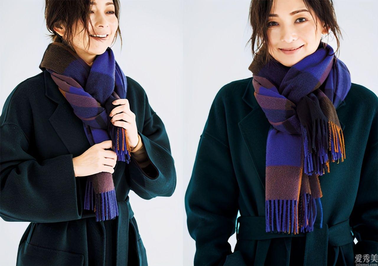 羊毛絨圍巾如何戴,才沒有縮脖子感,日本時尚造型師的方法原來超簡單