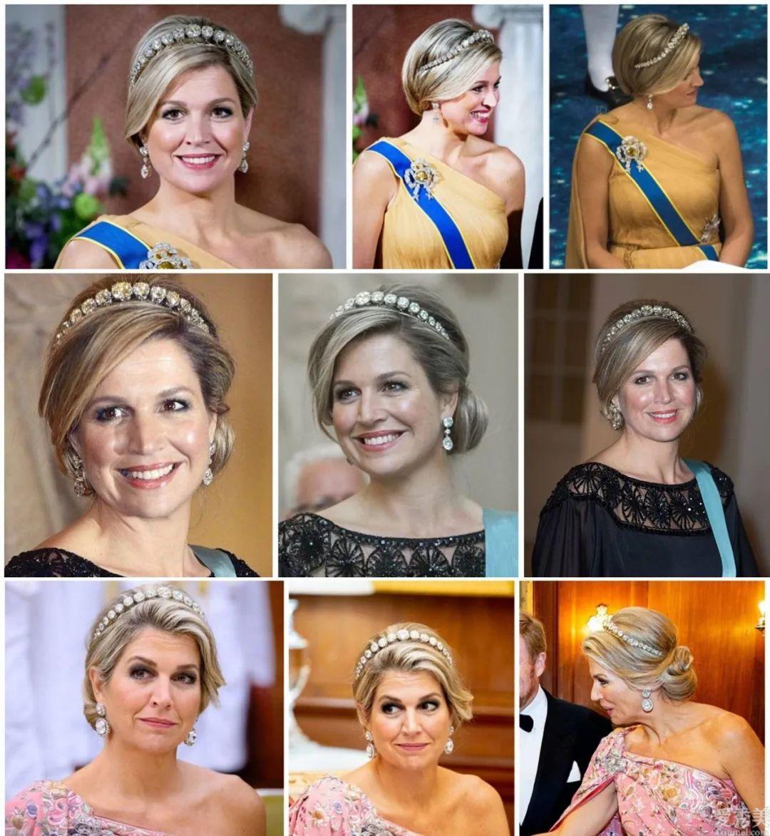 荷蘭王室的珠寶奢侈震撼,馬克西瑪皇後的這些冠冕別錯過