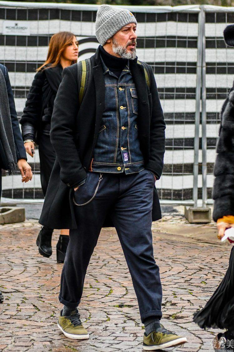 這才算作冬季的開啟!牛仔夾克+大衣穿出新意,原來那般很搭