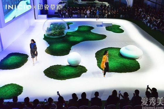 INICIO X 印象草原100%植物染有機桑蠶絲全球首發,超模孫一超領銜品牌2021春夏大秀