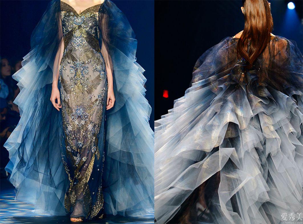 Marchesa高定時尚秀:夢幻透明薄紗、華麗刺繡,仙女系重工晚禮服