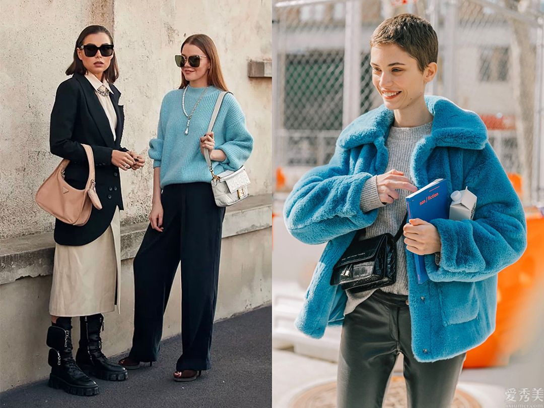 有品味的女性,冬天更愛穿藍色,這4組配色氣質高雅高些級