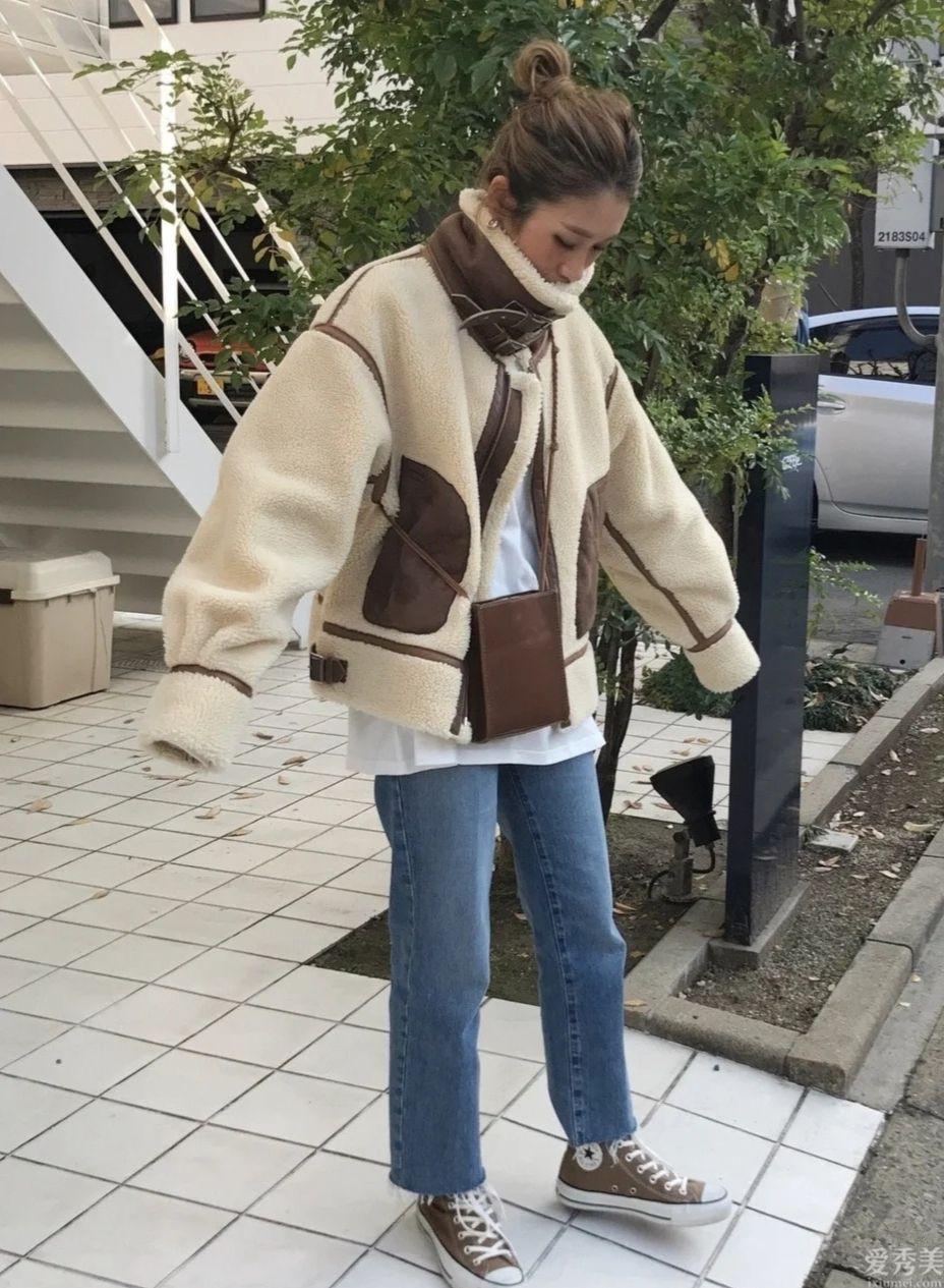 一米5的個子矮的女生冬季怎樣穿?日本素人穿衣打扮示范,簡單易學又清雅
