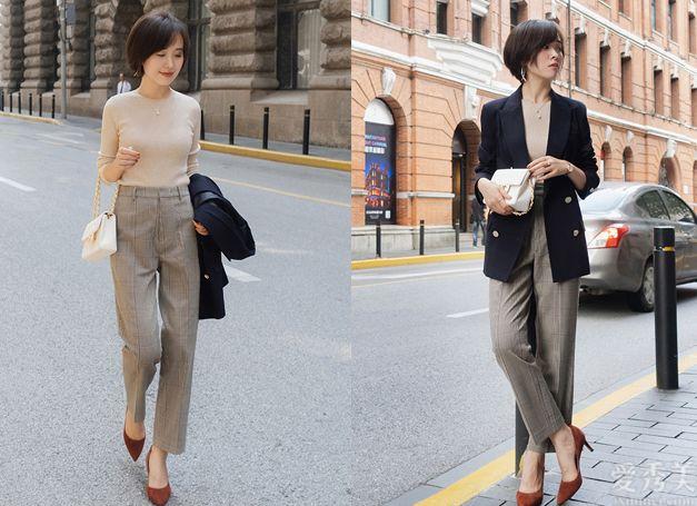 闊腿褲搭配指南,都是基礎款照本宣科就可以,上身潮流趨勢又有氣質