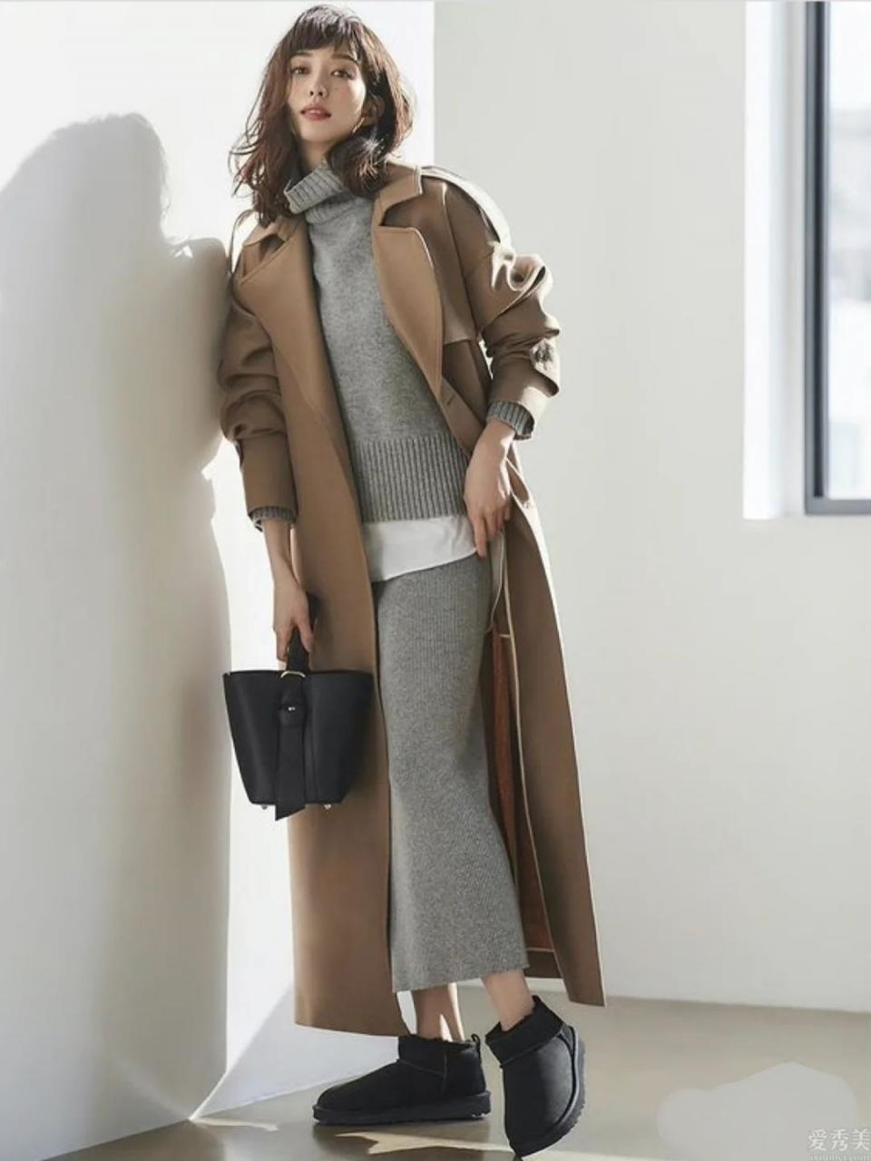 基本色也是有大註重,日本時尚博主松島花的冬天配色法,簡潔好用又溫柔