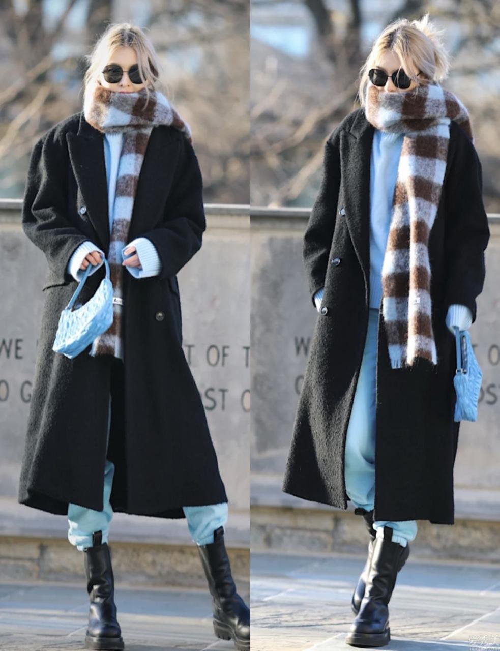 氣質時髦配搭cp:圍巾+大衣,雅致高級又防寒保暖,時髦精都愛