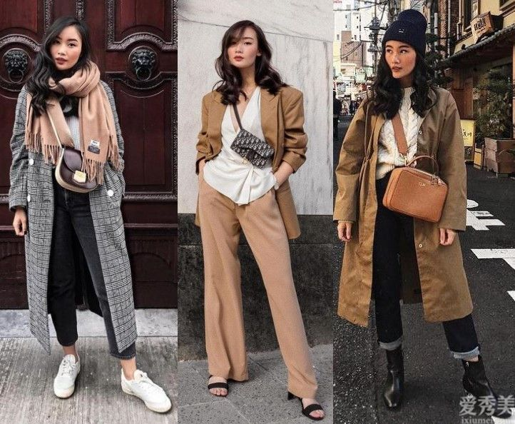 這名時尚博主強大!158cm也可以將長大衣穿出高級感,小個子穿衣典范