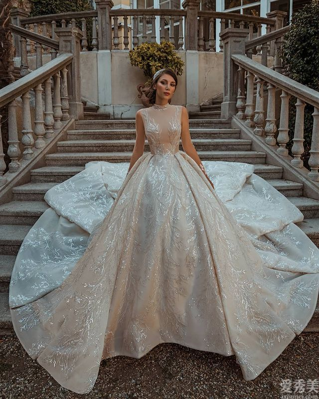 土爾其Dovita小仙女婚紗,薄紗、絲帶蝴蝶結、蕾絲閃粉,閃亮生姿