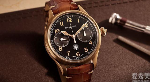 萬寶龍發佈1858系列產品單按鈕計時起源腕表
