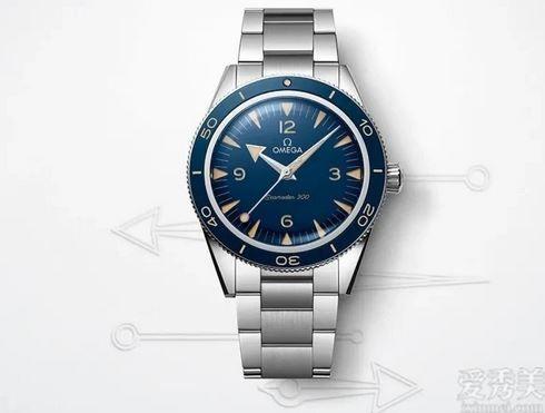 更為復古的新一代歐米茄海馬300藍面鋼款
